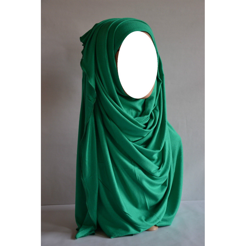Hijab Maxi Uni - Bleu Vert