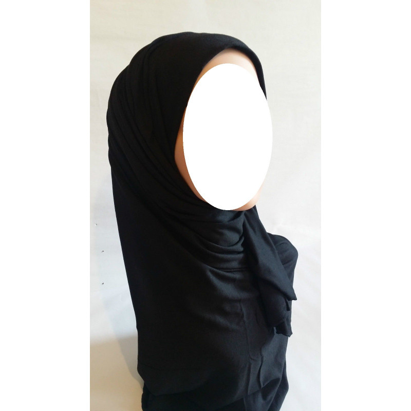 Hijab Maxi Uni - Noir