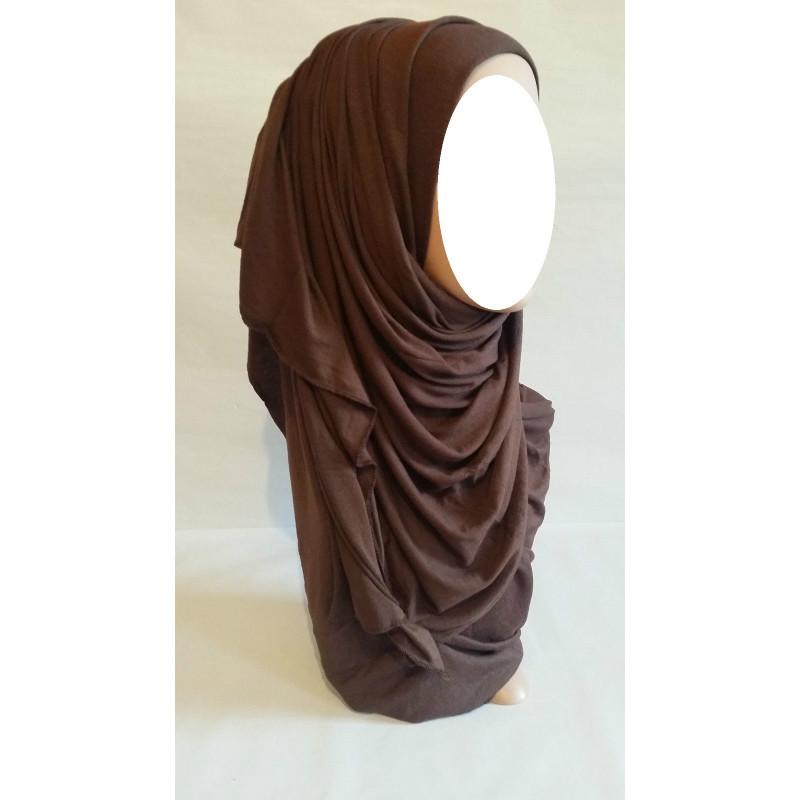 Hijab Maxi Uni - Marron