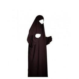 Jilbab 1 Pièce Al Manassik - Marron