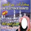Cd Coran mp3 Une sélection de Sourates Cheikh Idriss Abkar