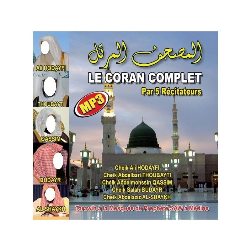 CD Coran Complet par 5 récitateurs ( Médine )
