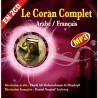 CD Le Coran Complet Arabe/Français EN 2 CD MP3