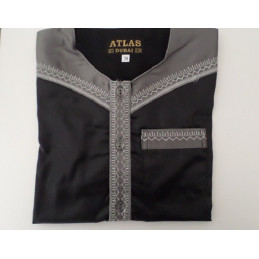 Qamis Enfant Atlas Dubai - Noir / Gris