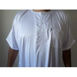 Qamis Ikaf ( manches courtes ) - Blanc