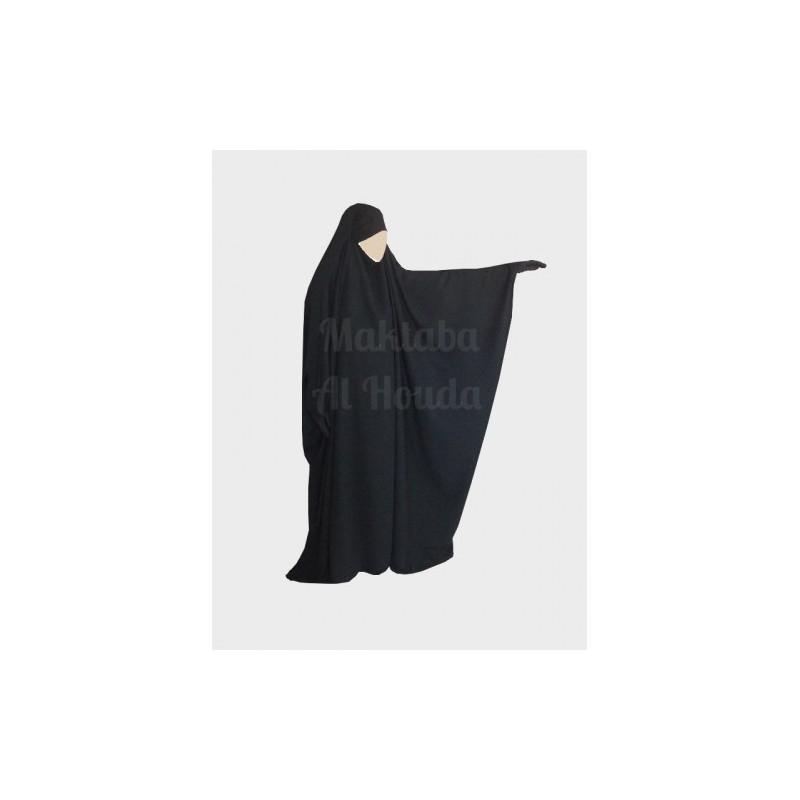 Jilbab Saoudien Umm Maryam - Noir