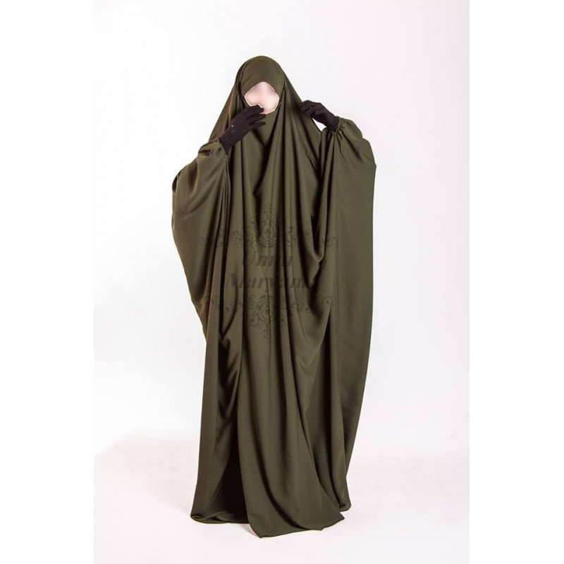 Jilbab Saoudien Umm Maryam - Vert Kaki