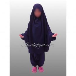 """Jilbab enfant """"assalafiyat"""" Cache menton élastique"""