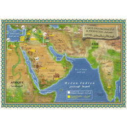 Poster Cartes des Prophètes et Messagers - Français/Arabe
