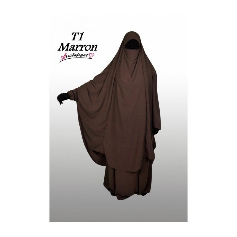 Jilbab Assalafiyat - Marron