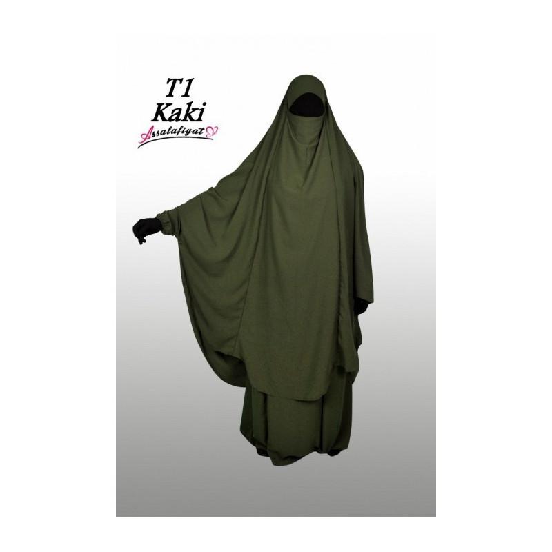Jilbab Assalafiyat - Vert Kaki