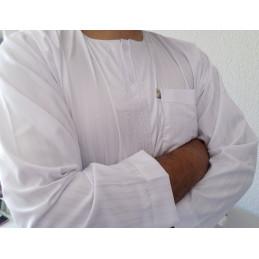 Qamis Ikaf ( manches longues ) - Blanc