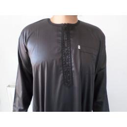Qamis Ikaf ( manches longues ) - Noir