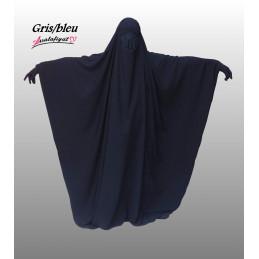 Jilbab Saoudien Assalafiyat - GRIS BLEU