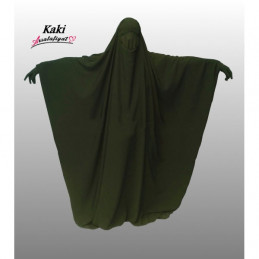 Jilbab Saoudien Assalafiyat - VERT KAKI