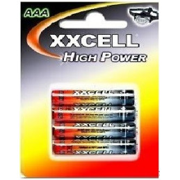 4 PILES XXCELL HIGH POWER LR03