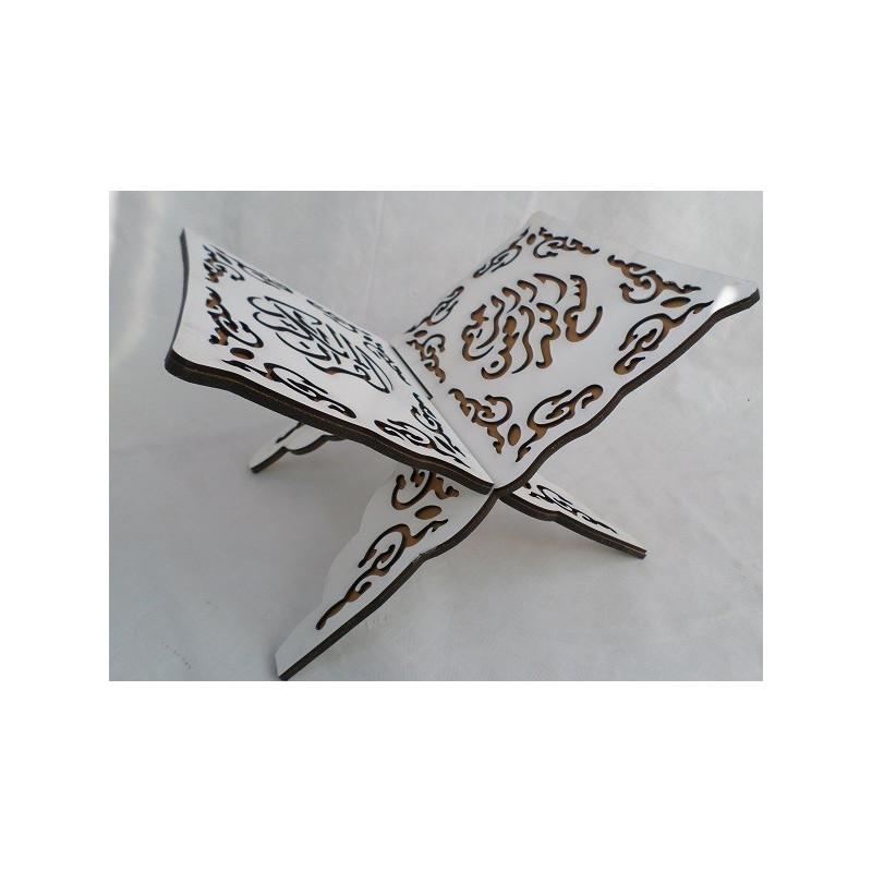 Porte Coran en Bois Sculpté - Blanc