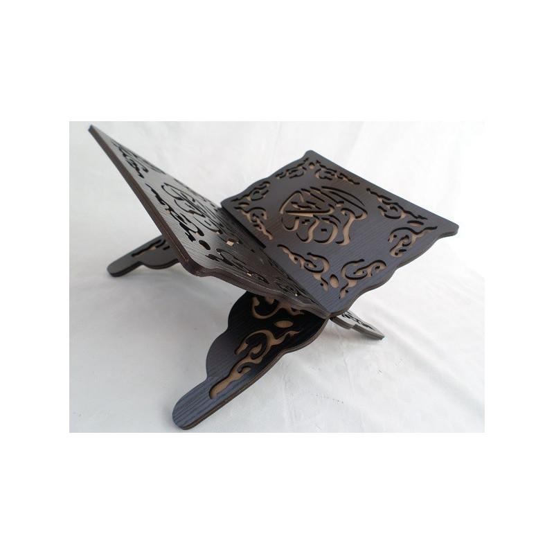 Porte Coran en Bois Sculpté - Noir