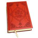 Coran Rouge/Bordeaux Edition de Luxe Couverture en Daim