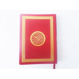 Coran Couverture Rouge/Doré Lecture Hafs