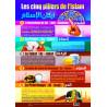 Poster Les Cinq Piliers de l'Islam