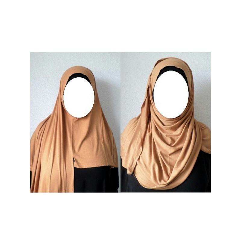 Hijab Easy Facile à Enfiler - Camel