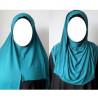 Hijab Easy Facile à Enfiler - Bleu Vert