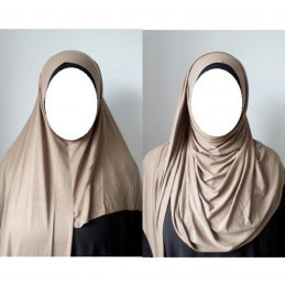 Hijab Easy Facile à Enfiler - Beige