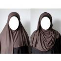 Hijab Easy Facile à Enfiler - Marron