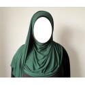 Hijab Easy Facile à Enfiler - Vert Sapin