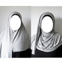 Hijab Easy Facile à Enfiler - Gris Clair