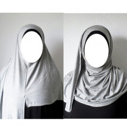 Hijab Easy Facile à Enfiler - Gris Clair