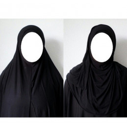Hijab Easy Facile à Enfiler - Noir