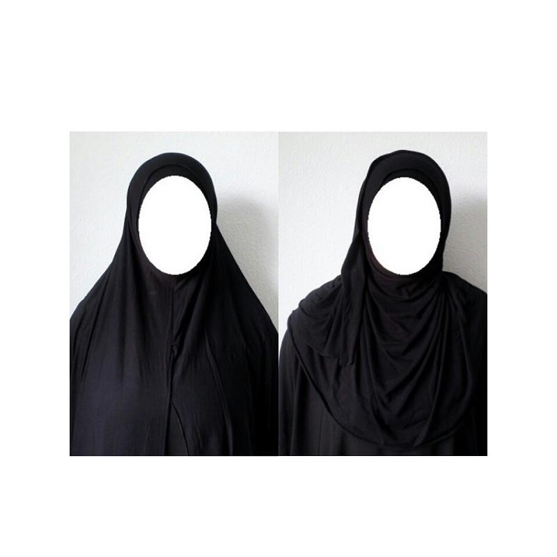Hijab Easy Facile à Enfiler - Noir