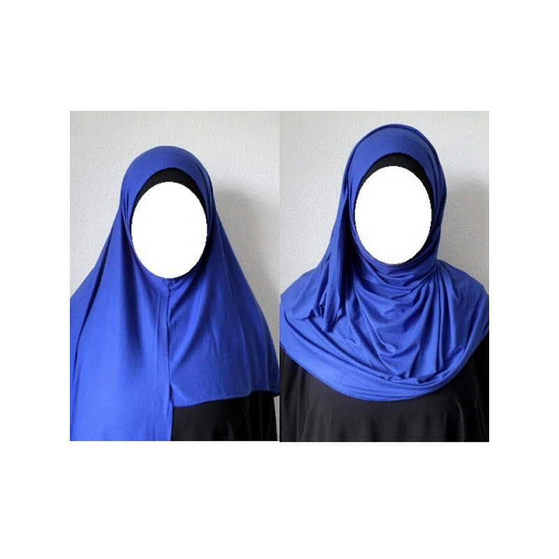 Hijab Easy Facile à Enfiler - Bleu Roi