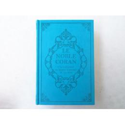 Coran Turquoise Edition de Luxe Couverture en Daim