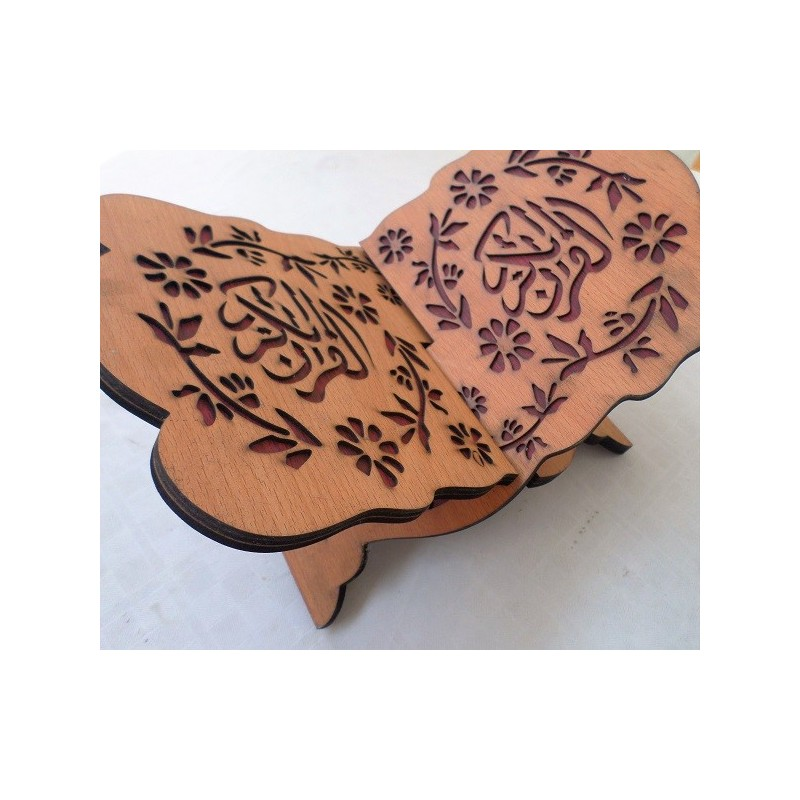 Porte Coran en Bois Sculpté - Petit Format