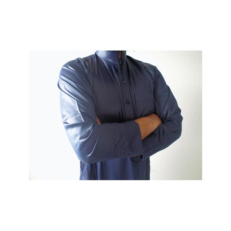 Qamis Saoudien Al Hattami - Bleu Marine