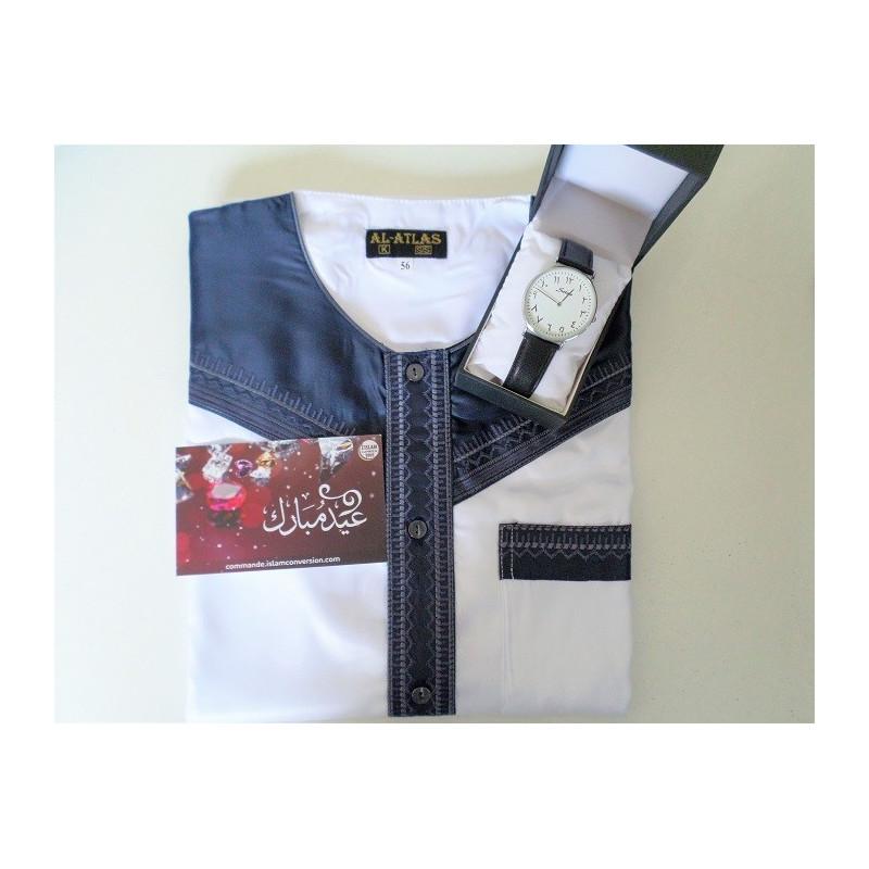 Pack Cadeau Homme Musulman Kamil ( Qamis/Montre )