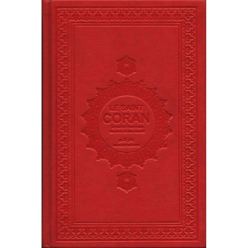 Le Saint Coran et la Traduction en Langue Française du sens de ses versets ( AR/FR ) - Rouge