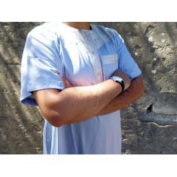 Qamis Atlas Dubai - Bleu fumé / Gris