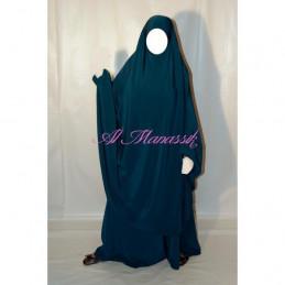"""Jilbab Al Manassik 2 pièces """"jupe"""" BLEU VERT"""