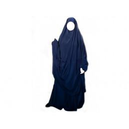 """Jilbab Al Manassik 2 pièces """"jupe"""" BLEU NUIT"""