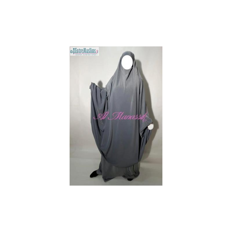 "Jilbab Al Manassik 2 pièces ""jupe"" GRIS CLAIR"