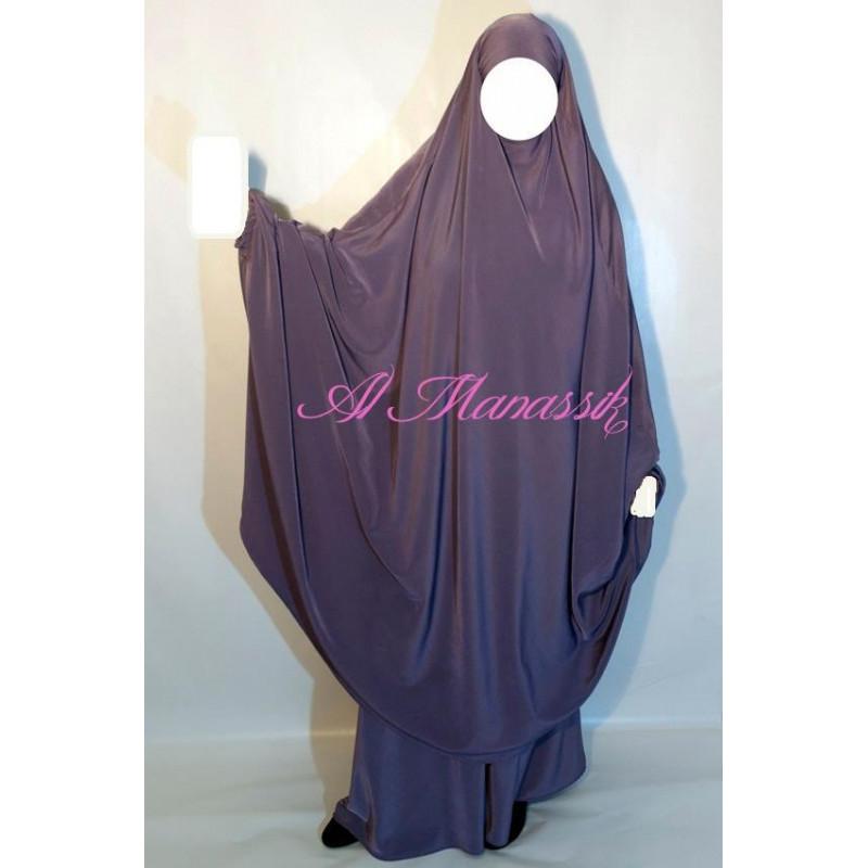 Jilbab Al Manassik PRUNE CLAIR