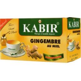 Carton de 24 thé Kabir - Gingembre et Miel