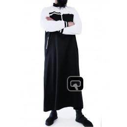 Qamis Long Classique - Qaba'il Noir / Blanc