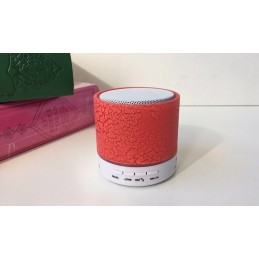 Mini Speaker Coranique Bluetooth avec Carte Mémoire 32GO ROUGE