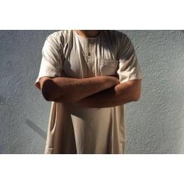Qamis Atlas Dubaï uni - Beige