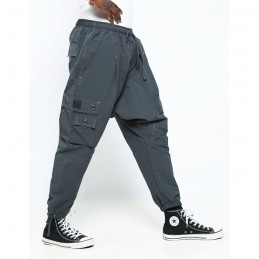 Sarouel Battle Long Dianoux Dc Jeans - Gris Anthracite